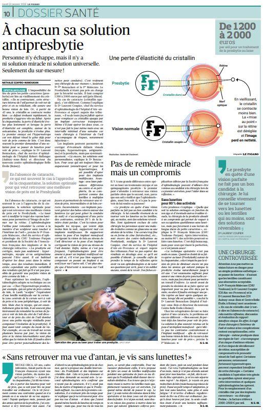 presse article figaro chirurgie refractive